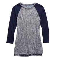 Aerie Waffle T-Shirt, Royal Navy | Aerie for American Eagle