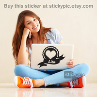 I Heart Lilo Bromance - One Direction - (Laptop Decal 1D Wall Sticker Decal PC Apple Macbook Mac Geekery)