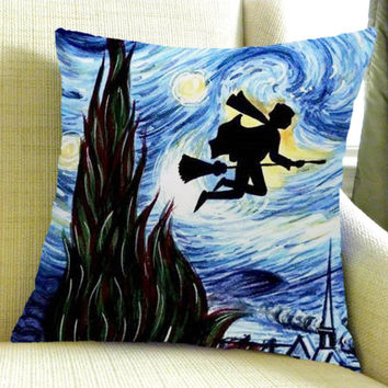 harry potter starry night Square Pillow Case Custom Zippered Pillow Case one side pillow case size 16 x 24,18 x 18,20 x 30