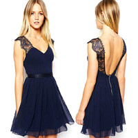 4 Size Lady Chiffon Cocktail Homecoming Dresses Formal Mini Party Prom Dress New