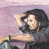 Johnny Depp Art Print Fan Art