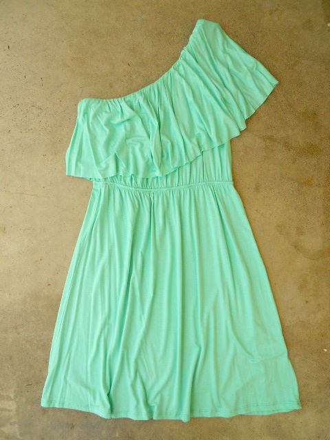 Sweet Ruffled Mint Dress [2694] - $32.00 : Vintage Inspired Clothing &amp; Affordable Summer Dresses, deloom | Modern. Vintage. Crafted.