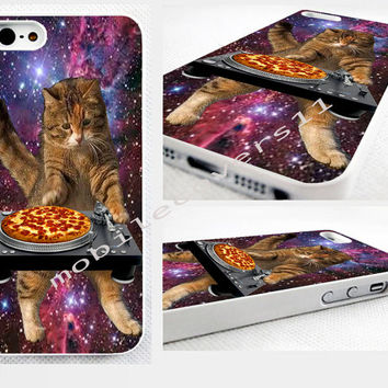 turntable,pizza cat,because cats, phone cover iPhone 4,4s 5,5s 5C,6,6 plus, available for samsung galaxy, galaxy mini