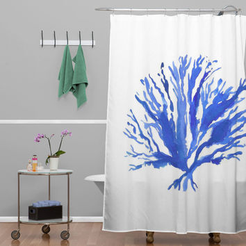 Laura Trevey Sea Coral Shower Curtain
