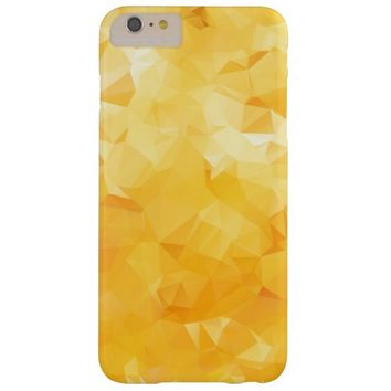 Abstract Orange Sunny Triangular Background Barely There iPhone 6 Plus Case
