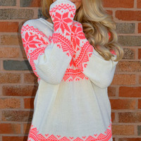 Color The Slopes Neon Sweater · Haute Pink