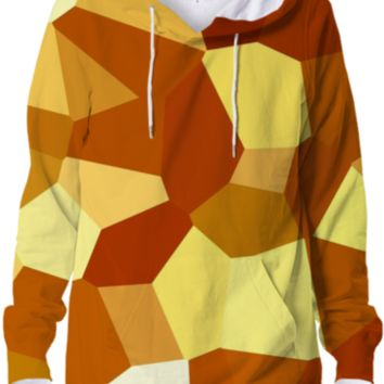 Colorful Crystals Geometric Abstract Geometry Designer Hoodie created by all-over-print-t-shirts | Print All Over Me