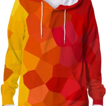 Crazy Colorful Geometric Crystals Abstract Geometry Designer Hoodie created by all-over-print-t-shirts | Print All Over Me