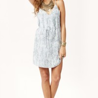 ALIA CRISS CROSS SILK DRESS