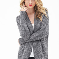 LOVE 21 Cable Knit Batwing Cardigan