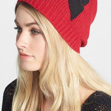 kate spade new york stitched bow slouched beanie
