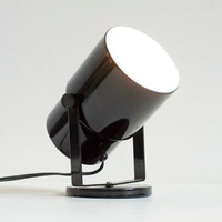 Black Modernist 1980's Spotlight Small Minimalist Wall Mountable Lamp