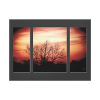 Sunset Birch Triptych Wrapped Canvas Print from Zazzle.com