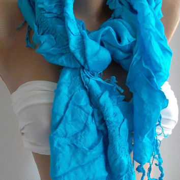Blue / Elegance / Shawl / Scarf/Super soft