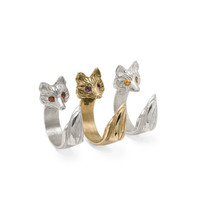 Red Fox Ring in Bronze, Sizable (Madcap Charity Item)
