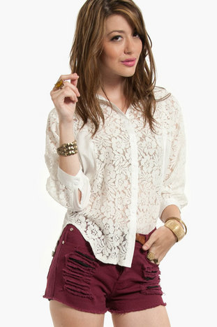 Laced Upfront Blouse