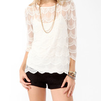 Scalloped Mesh Top