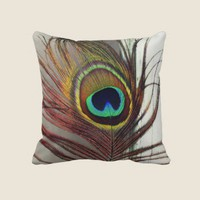 The Eye or Peacock Feather Resting Pillow from Zazzle.com