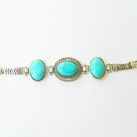 Turquoise cuff bracelet