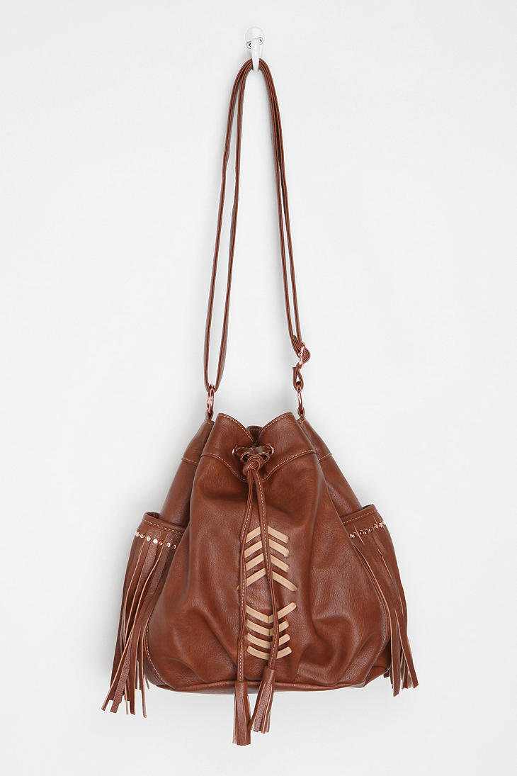 Ecote Embellished Bucket Bag