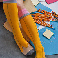 Socks  Socks  Ashi Dashi Pencil Knee Highs  Sock Dreams