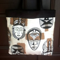 Shopping Tote African Mask