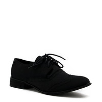 canvas lace up oxford