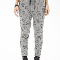 FOREVER 21 The Simpsons Sweatpants Grey/Black