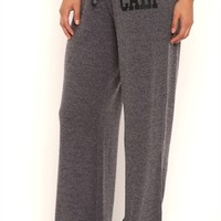 Super Soft Flare Leg Lounge Pants with Cali on Hip
