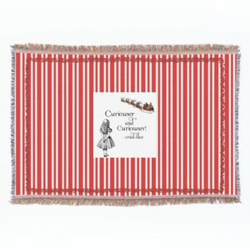 Alice Santa Curiouser Red Stripe Throw Blanket
