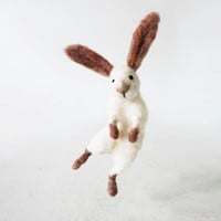 Sir Hopsalot - hopping bunny, whimsical little creature, decorative figurine handmade from quality wool