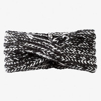 MARLED KNIT TWISTED HEAD WRAP - BLACK from EXPRESS