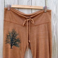 under the shade Tree Cropped Pants in Terracotta, capris, lounge, yoga pants, S,M,L,XL