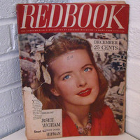 1940s Ladies Magazine. Redbook. 1943.