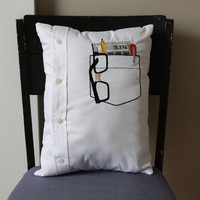 Nerd Pocket Pillow by shopdirtsa on Etsy