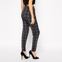 ASOS Peg Pants In Plaid Check Print