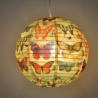 BlueQ History Of The Butterfly Paper Lantern Hanging Light