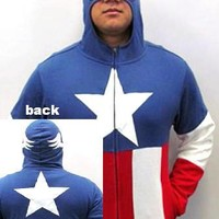 Captain America Hoodie - Stars And Stripes