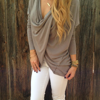Twisted Front Sweater