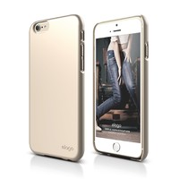 iPhone 6 Case, elago® S6 Slimfit2 Case for the iPhone 6 (4.7inch) - eco friendly Retail Packaging (Champagne Gold)