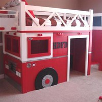 Fire Truck Bed | DIY Project built from Free Furniture Plans by Ana White