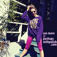 That Sh%&amp; Cray GOLD ink on Purple Sweatshirt Limited Print  All Sizes Available