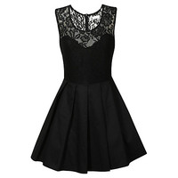 Buy True Decadence Pleated Prom Dress, Black | John Lewis