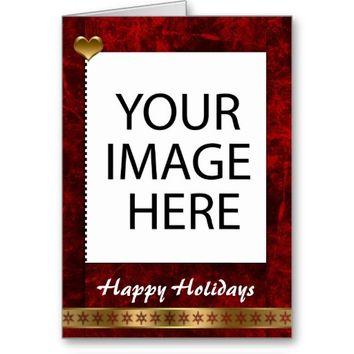 Happy Holidays Greeting Photo Template