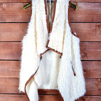 Off White Fur Vest {PREORDER}