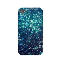 Turquoise Glitter iPhone Case from Zazzle.com