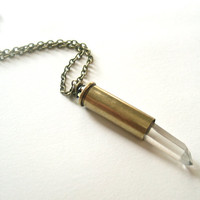 bullet necklace with quartz spear