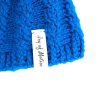 ♢ The Blue Weaved Hat ♢ ★ A handmade crocheted Blue Weaved hat or beanie. - Joy of Motion