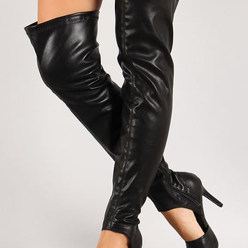 cut out v stiletto thigh high boot from urbanog x