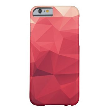 Modern Abstract Wine Triangle Pattern iPhone 6 Case